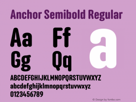 Anchor Semibold