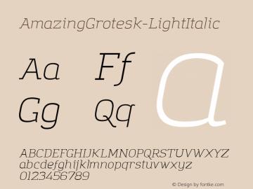 AmazingGrotesk-LightItalic
