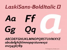 LaskiSans-BoldItalic