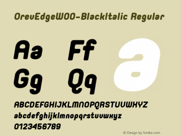 OrevEdge-BlackItalic