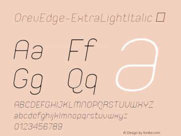 OrevEdge-ExtraLightItalic