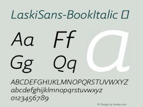 LaskiSans-BookItalic