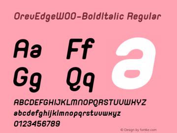 OrevEdge-BoldItalic