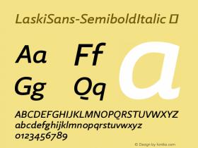 LaskiSans-SemiboldItalic