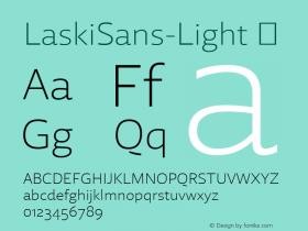 LaskiSans-Light