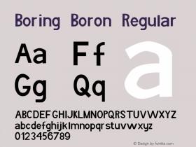 Boring Boron