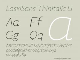 LaskiSans-ThinItalic