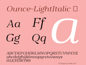 Ounce-LightItalic