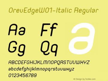 OrevEdge-Italic