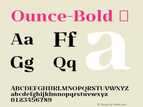 Ounce-Bold