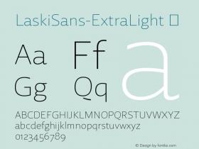 LaskiSans-ExtraLight