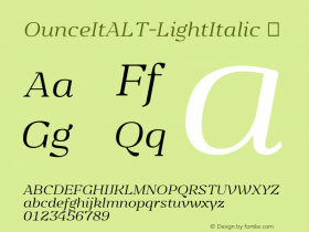 OunceItALT-LightItalic