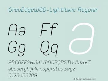 OrevEdge-LightItalic