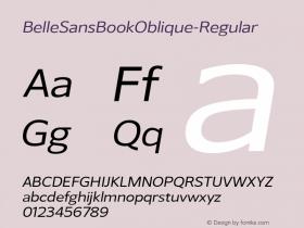BelleSansBookOblique-Regular