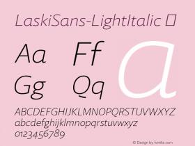 LaskiSans-LightItalic