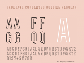 Frontage Condensed Outline
