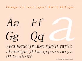 Change Lu Font Equal Width