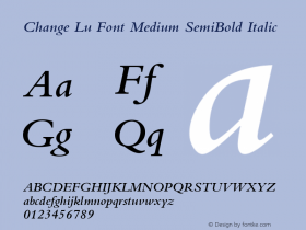 Change Lu Font Medium