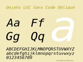 DejaVu LGC Sans Code