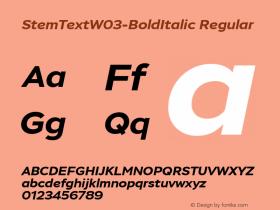 StemText-BoldItalic