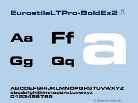 EurostileLTPro-BoldEx2