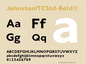 JohnstonITCStd-Bold