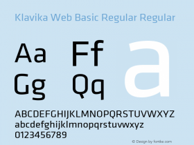 Klavika Web Basic Regular