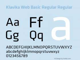 Klavika Web Basic Regular
