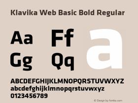 Klavika Web Basic Bold