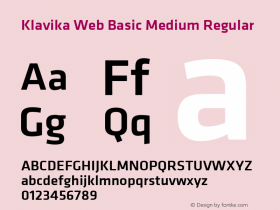 Klavika Web Basic Medium
