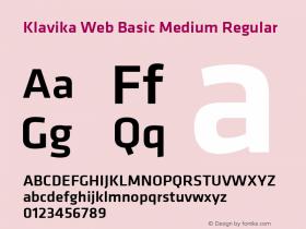Klavika Web Basic Medium