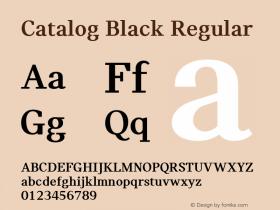 Catalog Black