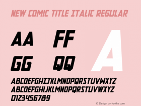 New Comic Title Italic