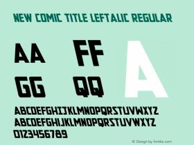 New Comic Title Leftalic