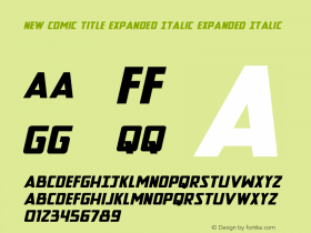 New Comic Title Expanded Italic