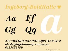 Ingeborg-BoldItalic