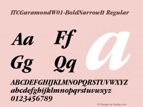 ITCGaramond-BoldNarrowIt