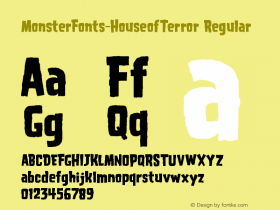 MonsterFonts-HouseofTerror