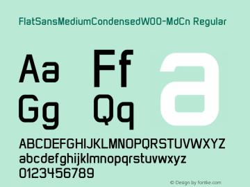 FlatSansMediumCondensed-MdCn