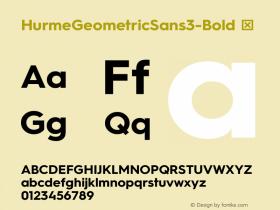 HurmeGeometricSans3-Bold