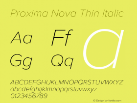 Proxima Nova Thin