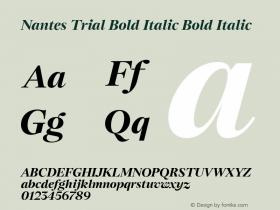 Nantes Bold Italic