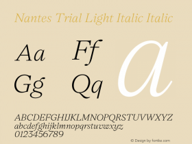 Nantes Light Italic