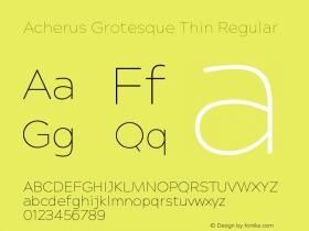 Acherus Grotesque Thin