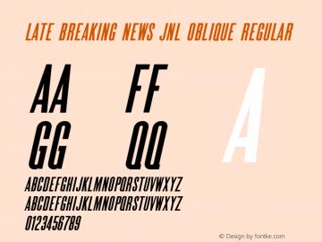 Late Breaking News JNL Oblique