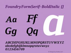 FoundryFormSerif-BoldItalic