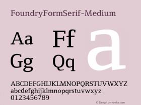 FoundryFormSerif-Medium