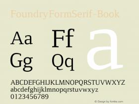 FoundryFormSerif-Book