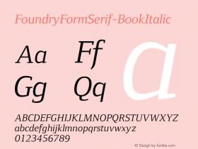 FoundryFormSerif-BookItalic