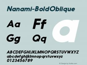 Nanami-BoldOblique